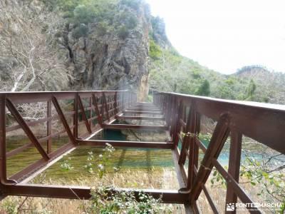 Valle Cabriel-Manchuela conquense;viajar en octubre cascada de pedrosa de tobalina castillo de acher